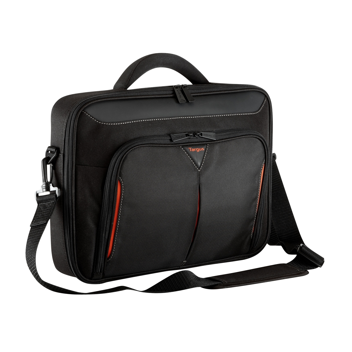 "Targus Classic+ 15-15.6"" Clamshell Laptop Bag - Black/Red"