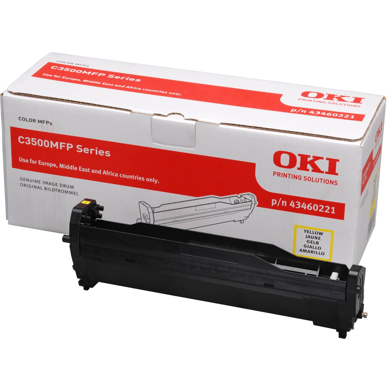 OKI Image Drum EP-C3520MFP/3530MFP/MC350/MC360-Yellow