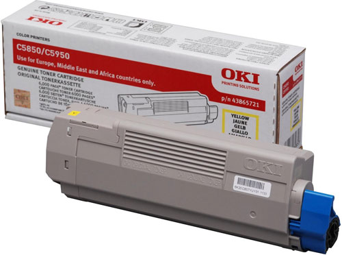 OKI Toner-C5850/5950/MC560-Yellow