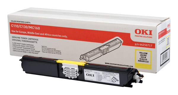 OKI Toner-C110/130/MC160-Yellow
