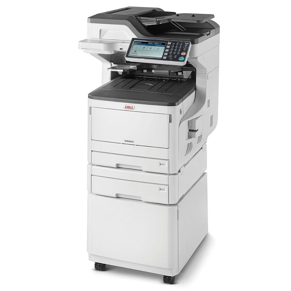 OKI MC853dnct A3/А4 SWG Colour MFP (1add tray, cabinet)